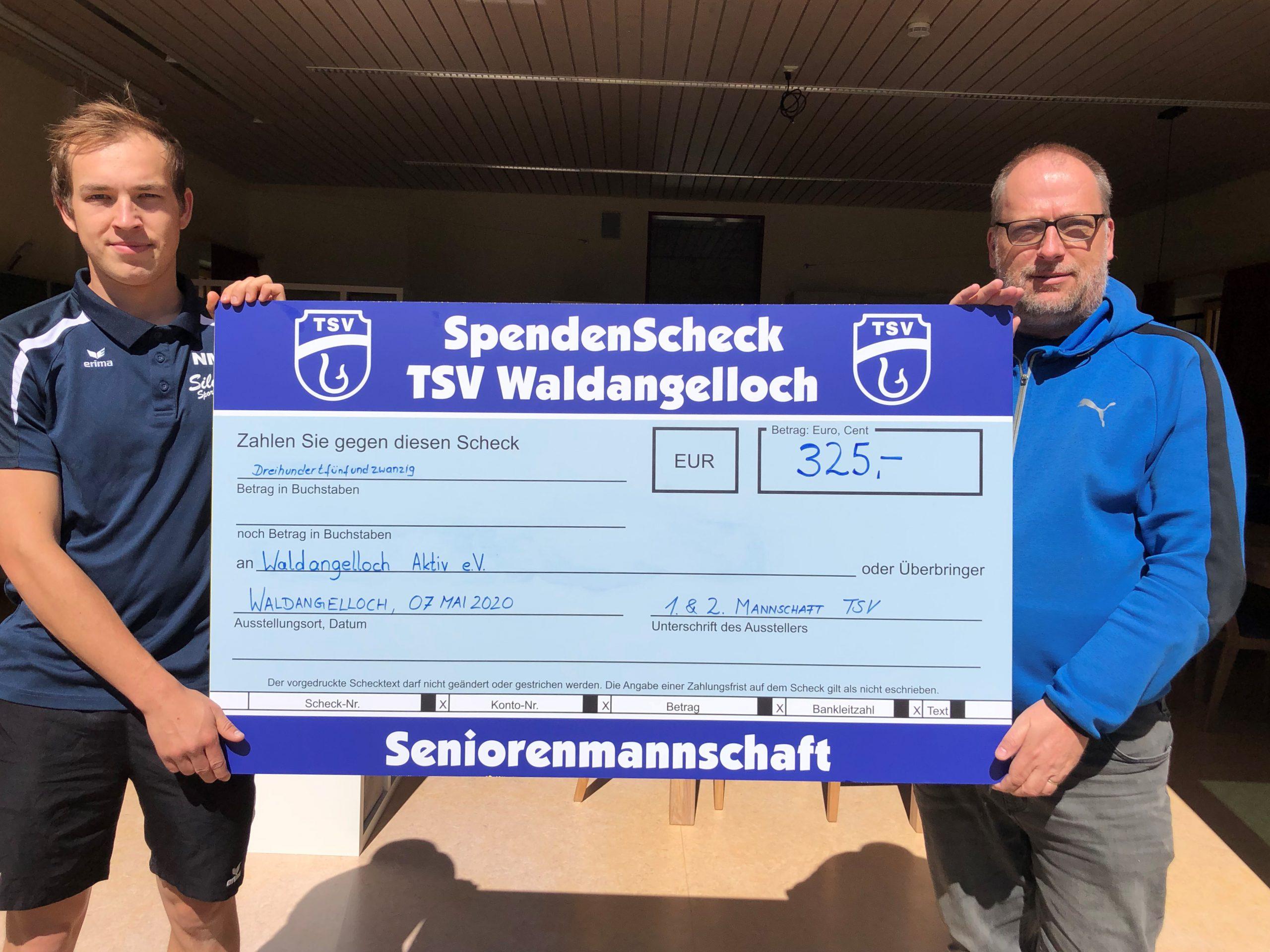 Spende TSV Waldangelloch