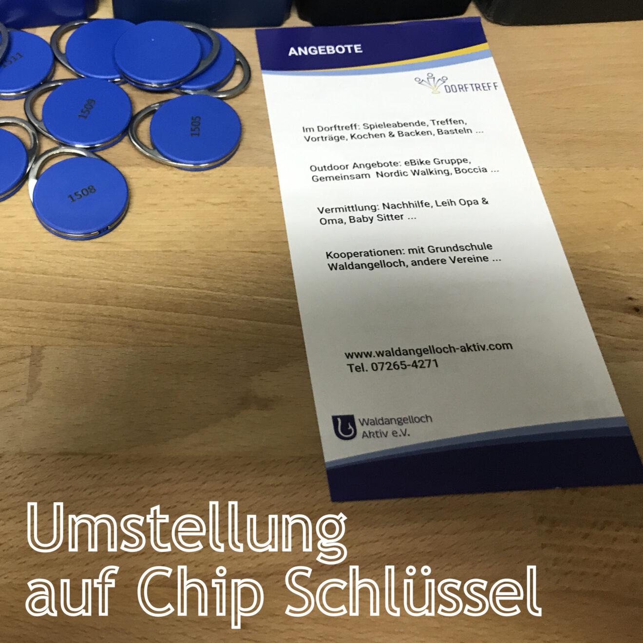 Umstellung Schließanlage auf Chips - Danke an die Stadt Sinsheim