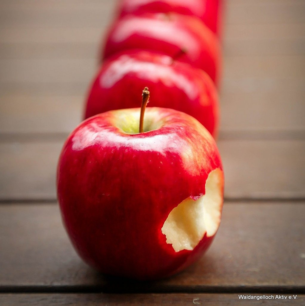 Apfelreihe